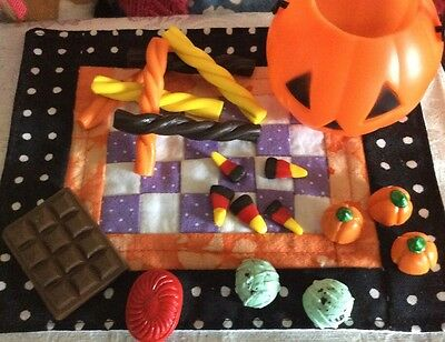 A.G.CREATION Doll Play Food: 19 Piece Halloween Treats Set - Halloween Food Treats