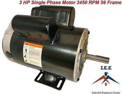 3 Hp 3450 Rpm Single Phase 56 Frame 230v 15 Amp 58 Shaft Nema Compressor Motor