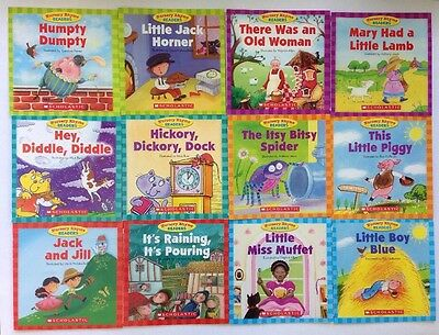 Nursery Rhyme Childrens Books Set Beginning Readers Lot 12