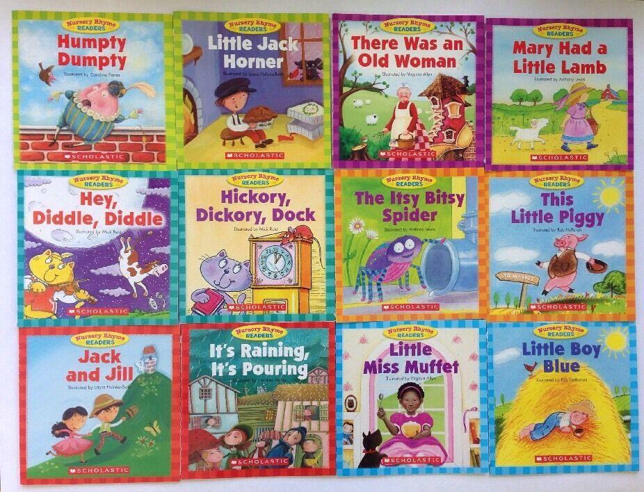 Nursery Rhyme Childrens Books Beginning Readers Lot 12