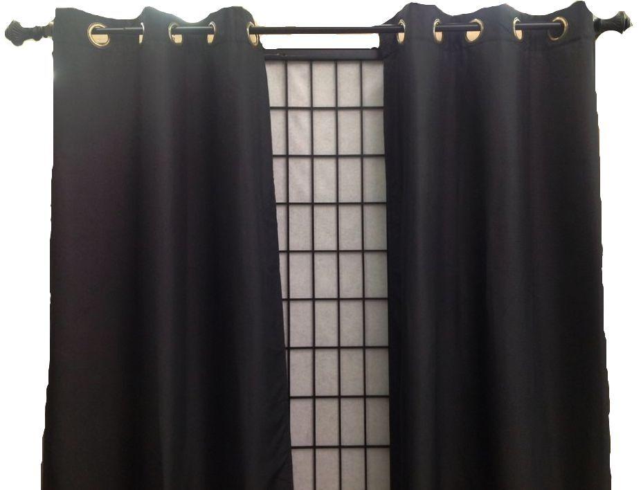 Blackout Thermal Grommet Solid Window Curtain Microfiber