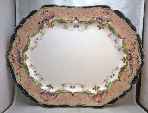 "Antique 1907 Ridgeways VERONA transferware 15"" platter. England"