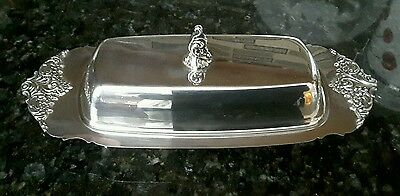 Baroque By Wallace Silverplate/ Butter Dish #206