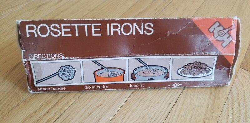 Vintage Kalkus-Hirco Christmas Rosette Iron Set