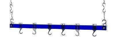 Concept Housewares 36-Inch Ceiling Pot Rack, Rack Blue - Item -