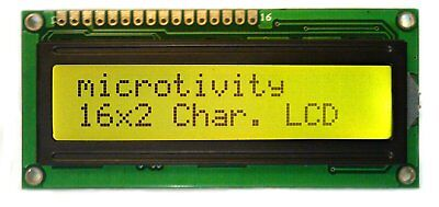Microtivity Lcd Module 1602 Black On Green With Backlight Back Light Im162