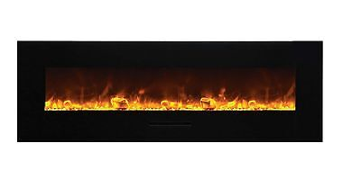 """Amantii Wall Mount / Flush Mount Series Electric Fireplace with Ice Media 60 """""""