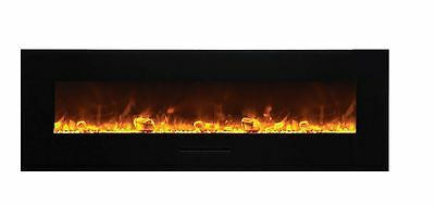 Amantii Wall Mount / Flush Mount Series Electric Fireplace with Ice Media 60 ""
