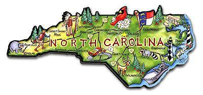 (North Carolina the Tarheel State Artwood Jumbo Fridge Magnet)