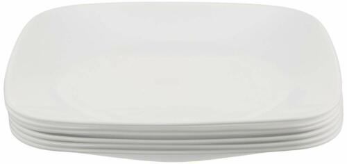 """Corelle Corelle Square 8-3/4"""" Luncheon Plate, Pure White (Set of 6)"""