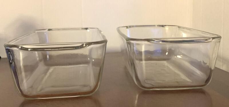"2 Pyrex Clear Glass Loaf Pan Bread Baking Dish 213-R 1.5 Qt 8.5"" x 4.5"" x 2.5"""