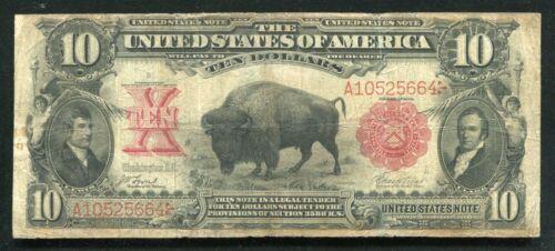 """FR. 115 1901 $10 TEN DOLLARS """"BISON"""" LEGAL TENDER UNITED STATES NOTE"""
