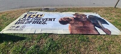 RARE VINTAGE Smokey Bear 10'x22.5' Highway Billboard sign unused one of a kind