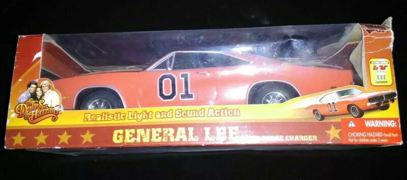 Dukes Of Hazzard General Lee Car Lights And Sounds 1969 Dodge Charger in box