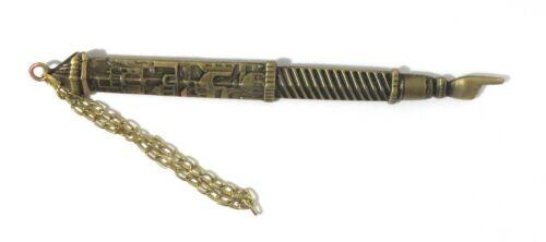 "Judaica - 6"" Bronze Plated Jerusalem motifs Yad Torah Bible Pointer"