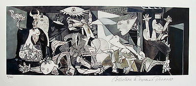 Pablo Picasso GUERNICA Estate Signed Stamped & Numbered Small Giclee Art