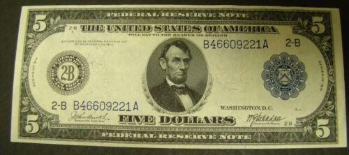 1914 $5 Federal Reserve Note AU  FRN   New York