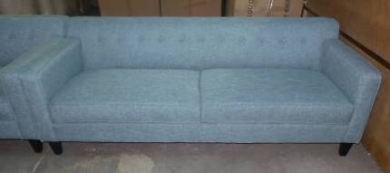 3 SEATER AND  2  SEATER IN TEAL DIAMOND FABRIC