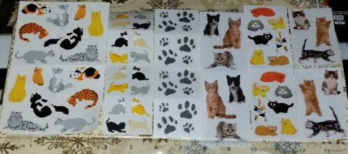 Various Mrs Grossman Cute Real Funny Kitty Cat Stickers Lot #3 - FREE SHIPPING!