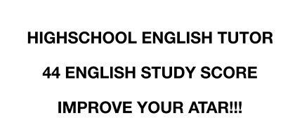 VCE / Highschool English Tutor