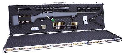 Double Rifle Camo Aluminum Gun Case - Best Camouflage Case -