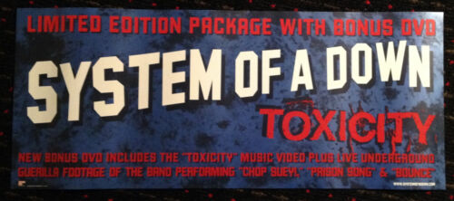 SYSTEM OF A DOWN Toxicity 10x24 advance promo poster record store display