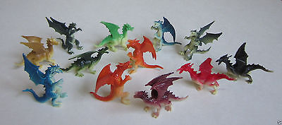 12 Mini Dragon Figures Knight Birthday Party Goody Loot Bag Favor Supply Kid Toy