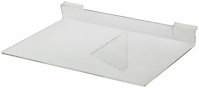 Shelves For Slatwall Clear Set Of 2 Plastic Acrylic Display 14 X 10 Wire Grid