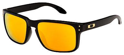 Oakley Holbrook Sunglasses OO9102-E355 Polished Black | 24K Iridium (Oo9102 Holbrook)