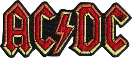 Patch - ACDC Lighting Bolt Logo Hard Rock Roll Music Embroidered Iron On #19031