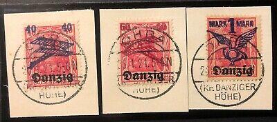 Danzig 1921 #50-52/o echt gestempelt