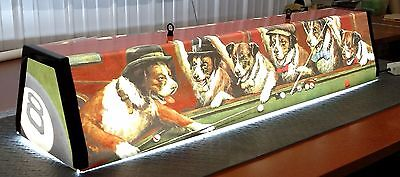 Dogs Playing Pool Billiards ........  pool table light...