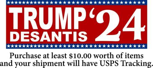 "Trump Desantis Bumper Sticker Donald Trump Ron Desantis Bumper Sticker 8.6"" x 3"""