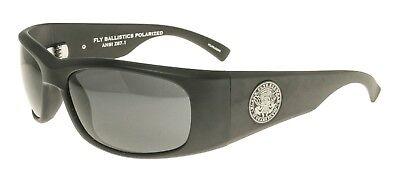 Neu Black Flys Sonnenbrille Fly Ballistische Matte Schwarz Polarisiert Rauchglas