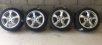 """Porsche boxster 986 17"""" Set 4 Alloy Wheels J7x17H2-ET55 98636212401 98636212606"""
