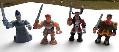 Disney Hero Villain Figure Set hades, hercules, mulan,hook set 4 2 inch toys - Mulan Villain