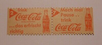 2 Vintage Coca Cola German Postage Stamps