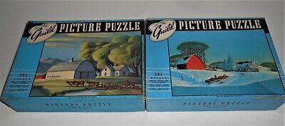 2 VINTAGE 1940'S JIGSAW GUILD PICTURE PUZZLES DALE NICHOLS