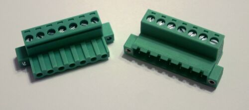 7 Pin - 5mm with Flange Screws : Female & Male Connector Pair / Terminal Block