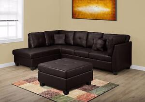 $849 - SECTIONNEL BONDED LEATHER NOIR