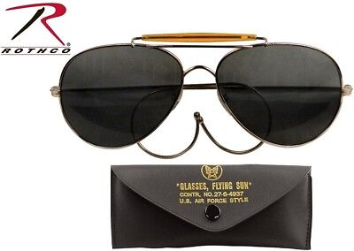 Smoke Lense US Air Force Style Military Sunglasses With Case 58mm 10200 Rothco