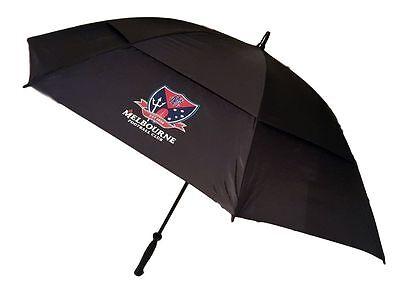 AFL GOLF UMBRELLA - MELBOURNE DEMONS - DOUBLE CANOPY - NEW - VALUE (Demon Golf Umbrella)