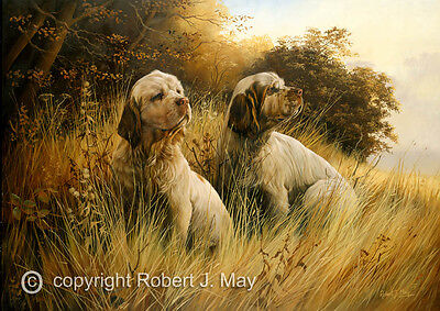 Clumber Spaniel limited edition print by Robert J. May