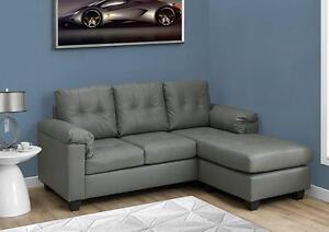 $499 - SOFA LOUNGER – DARK BROWN BONDED LEATHER --  4 colors available