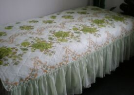 Large Beautiful Throw / Bed Cover Floral for Double Bed