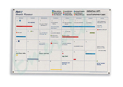 Mark It Month Planner 600 x 900mm Laminated & Double Sided - Fast Dispatch