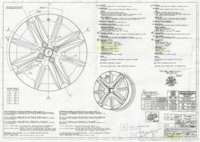 Technische Zeichnung Renault-Felge