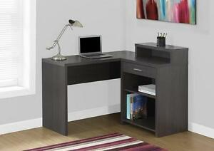 LORD SELKIRK FURNITURE - COMPUTER DESK GREY CORNER WITH STORAGE - $199.00