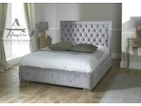 King size quilted headboard bed frame - ONO