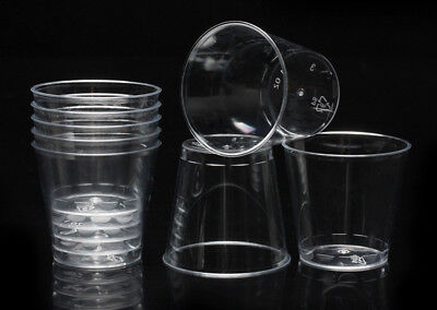 50pcs Clear Plastic Disposable Party Shot Glasses Jelly Cups Tumblers Birthday P - Clear Plastic Shot Glasses